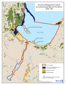 Lower Green Bay and Fox River AOC Map